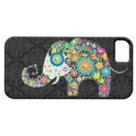 Colorful Retro Flowers Elephant Design iPhone 5 Covers