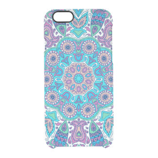 Colorful Retro Flowers Lace Clear iPhone 6/6S Case