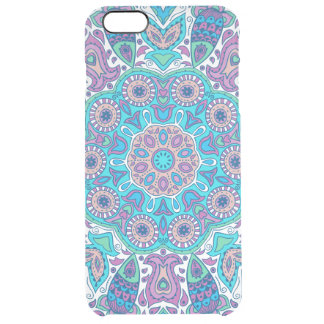 Colorful Retro Flowers Lace Clear iPhone 6 Plus Case