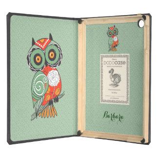 Colorful Retro Flowers Owl iPad Air Cases