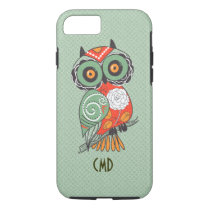 Colorful Retro Flowers Owl iPhone 8/7 Case