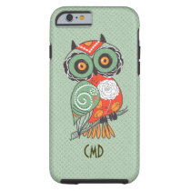 Colorful Retro Flowers Owl Tough iPhone 6 Case