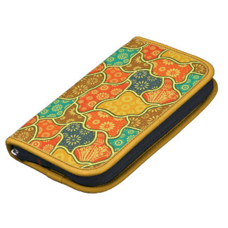 Colorful Retro Flowers & Shapes Pattern Organizer