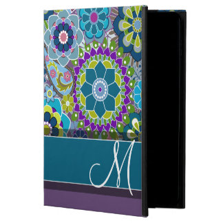 Colorful Retro Flowers with Monogram Powis iPad Air 2 Case