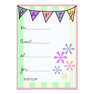 Colorful Retro Fun Fill In Party Card