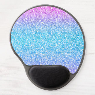 Colorful Retro Glitter And Sparkles Gel Mouse Pad