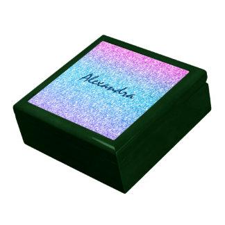 Colorful Retro Glitter And Sparkles Gift Box