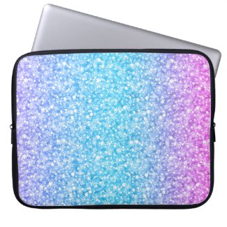 Colorful Retro Glitter And Sparkles Laptop Computer Sleeve