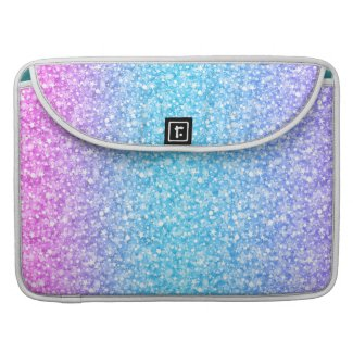 Colorful Retro Glitter And Sparkles Sleeve For MacBook Pro