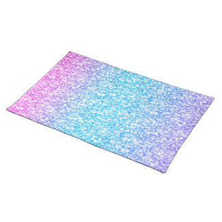 Colorful Retro Glitter And Sparkles Place Mats