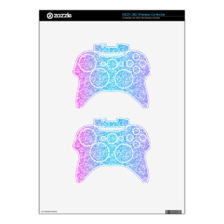 Colorful Retro Glitter And Sparkles Xbox 360 Controller Decal