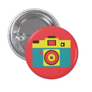 Colorful Retro Instant Camera (Blue) Flair Button