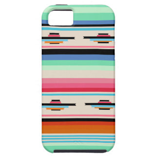 Colorful Retro Mexican Textile Pattern iPhone SE/5/5s Case