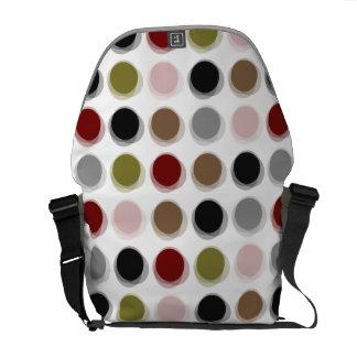 Colorful Retro Mod Pattern Fuzzy Dots Art Vector Commuter Bag
