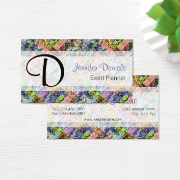 Professional Business Colorful Retro Modern Abstract Weave Pattern Business Card