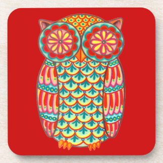 Colorful Retro Owl Coasters - Set of 6