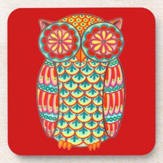 Colorful Retro Owl Coasters - Set of 6