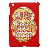 Colorful Retro Owl iPad Mini Case