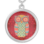Colorful Retro Owl Necklace