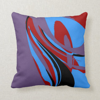 Colorful Retro Painting Abstract Art 3 Throw Pillows