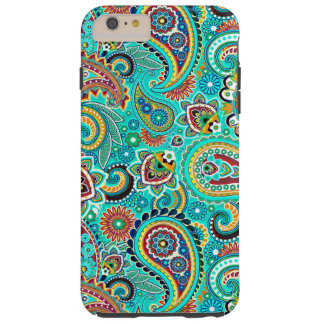 Colorful Retro Paisley Tough iPhone 6 Plus Case