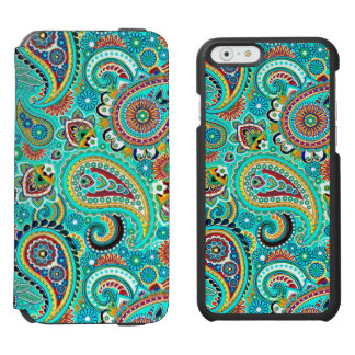 Colorful Retro Paisley iPhone 6/6s Wallet Case