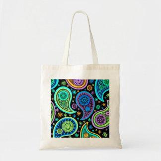 Colorful Retro Paisley Pattern2.0 Budget Tote Bag