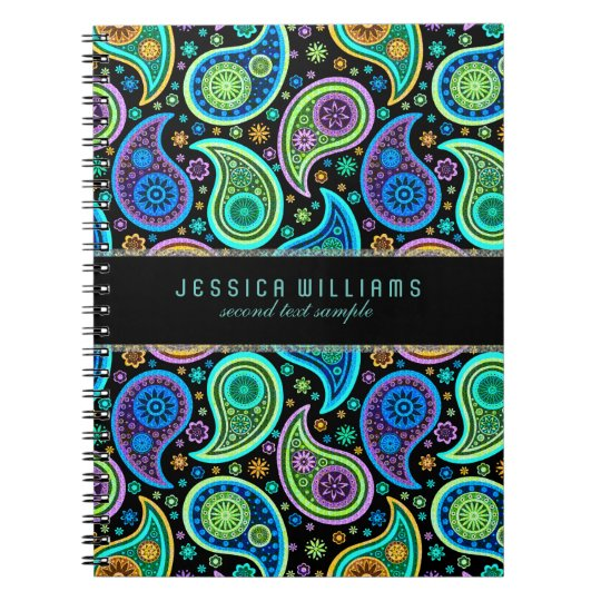 Colorful Retro Paisley Pattern Notebook Zazzle Com