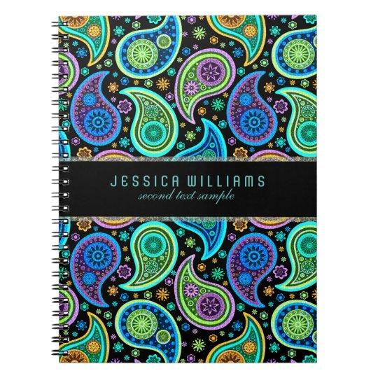 Colorful Retro Paisley Pattern Notebook Zazzle Com