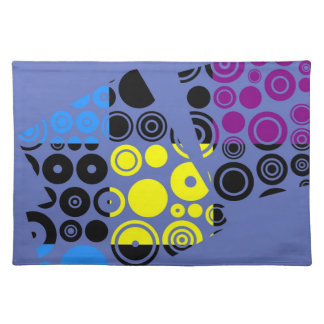 Colorful Retro Pattern Abstract Art Cloth Placemat