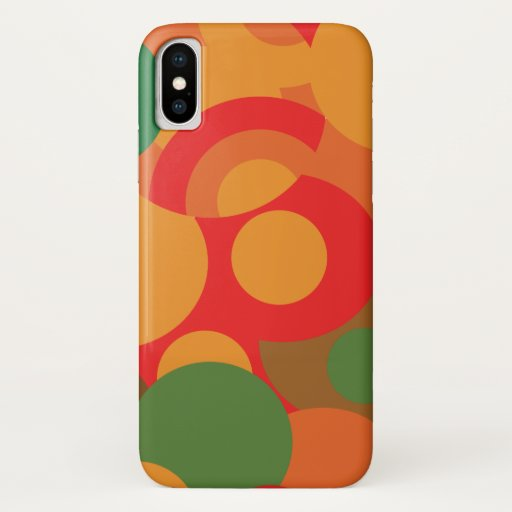 colorful retro pattern iPhone x case