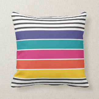 Colorful retro pop pattern pillow
