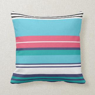 Colorful retro pop pattern throw pillows