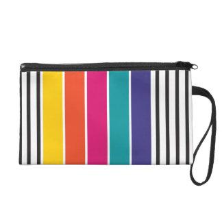 Colorful retro pop pattern wristlets