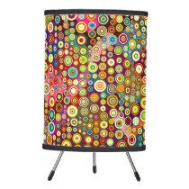 Colorful retro spots pattern I   your ideas Tripod Lamp