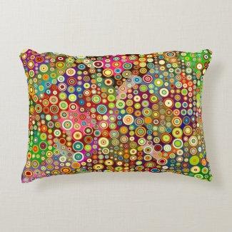 Colorful Retro Spots + your idea Accent Pillow