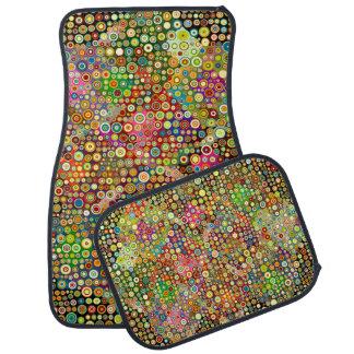 Colorful Retro Spots + your idea Car Floor Mat