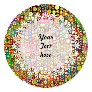 Colorful Retro Spots + your idea Card