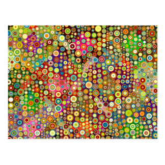 Colorful Retro Spots + your idea Postcard