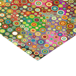 Colorful Retro Spots + your idea Tissue Paper