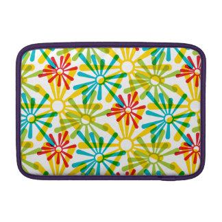 Colorful retro Starburst pattern Sleeves For MacBook Air
