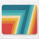 "Colorful Retro Stripe -  70s, 80s Design Mouse Pad<br><div class=""desc"">Abstract  geometric 1970's retro design. Stripes in orange,  turquoise,  yellow and blue.</div>"