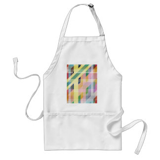 Colorful Retro Stripes Collage Adult Apron