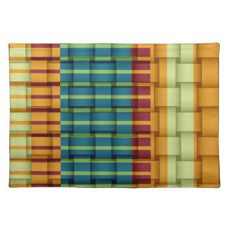 Colorful retro stripes graphic design placemat