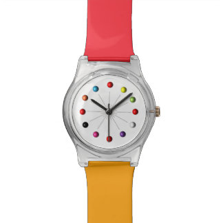 Colorful Retro Style Star Burst Atomic Sphere Watch