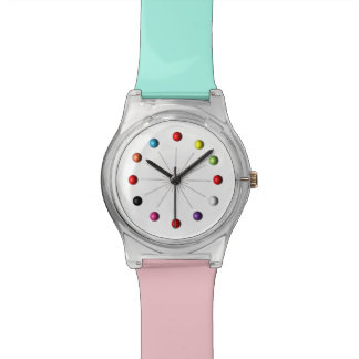 Colorful Retro Style Star Burst Atomic Sphere Wristwatch