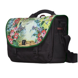 Colorful Retro Style Vintage Country Flower Garden Commuter Bag