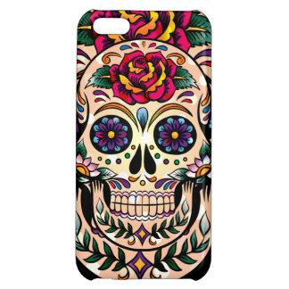 Colorful Retro Sugar Skull Flowers & Roses iPhone 5C Case