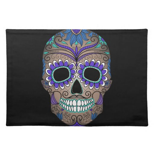 Colorful Retro Sugar Skull Placemat