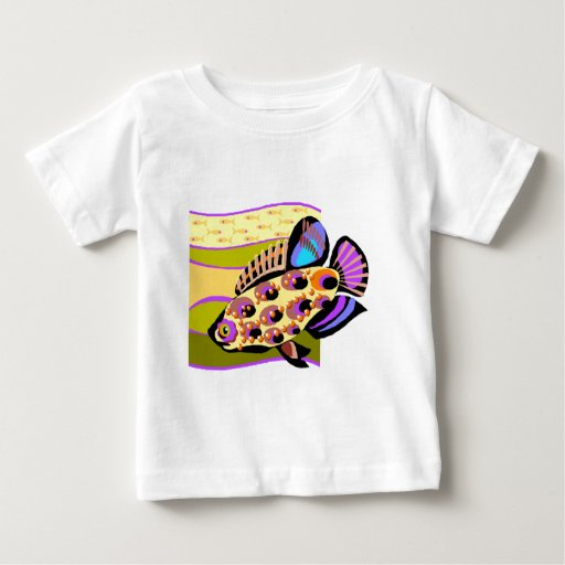 Colorful Retro Tropical Fish Tees